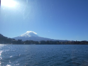 Mt. Fuji from lake Kawaguchi